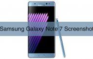 Samsung Galaxy Note 7 Ekran Görüntüsü Alma