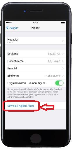 Sim Karttaki Rehberi iPhone'a Aktarma (3)
