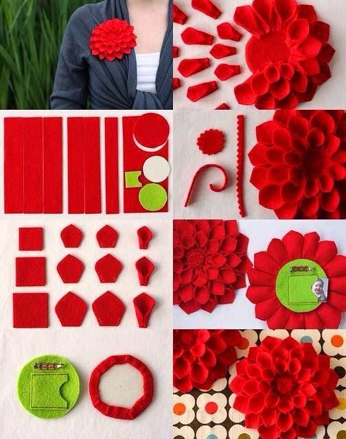 keçeden çiçek yapımı modelleri (11)