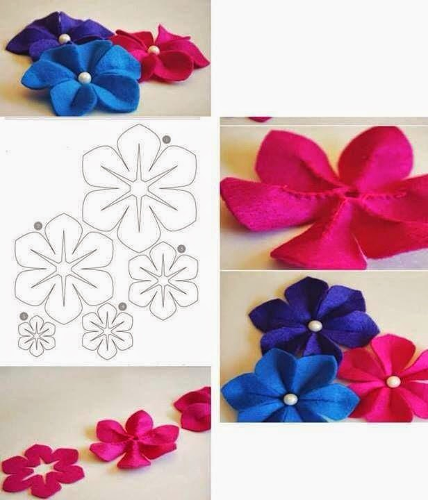 keçeden çiçek yapımı modelleri (12)