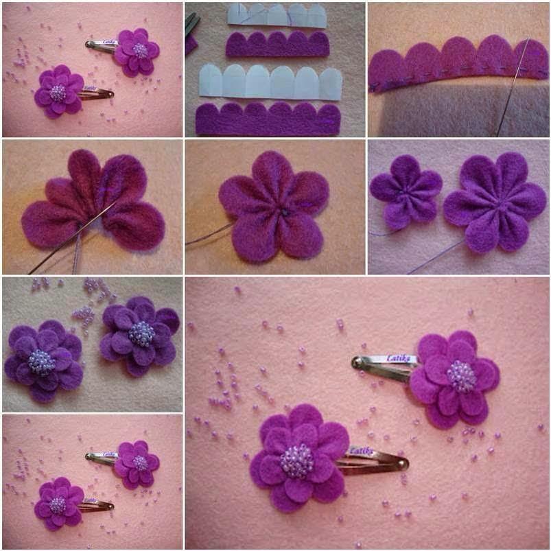 keçeden çiçek yapımı modelleri (13)