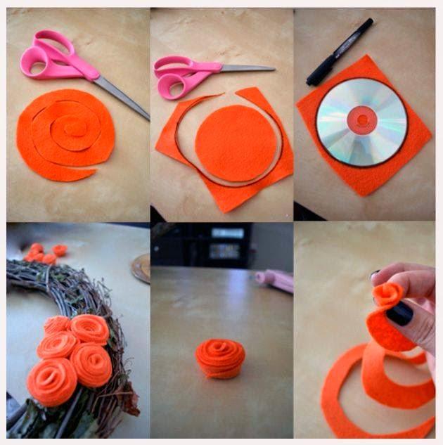 keçeden çiçek yapımı modelleri (14)
