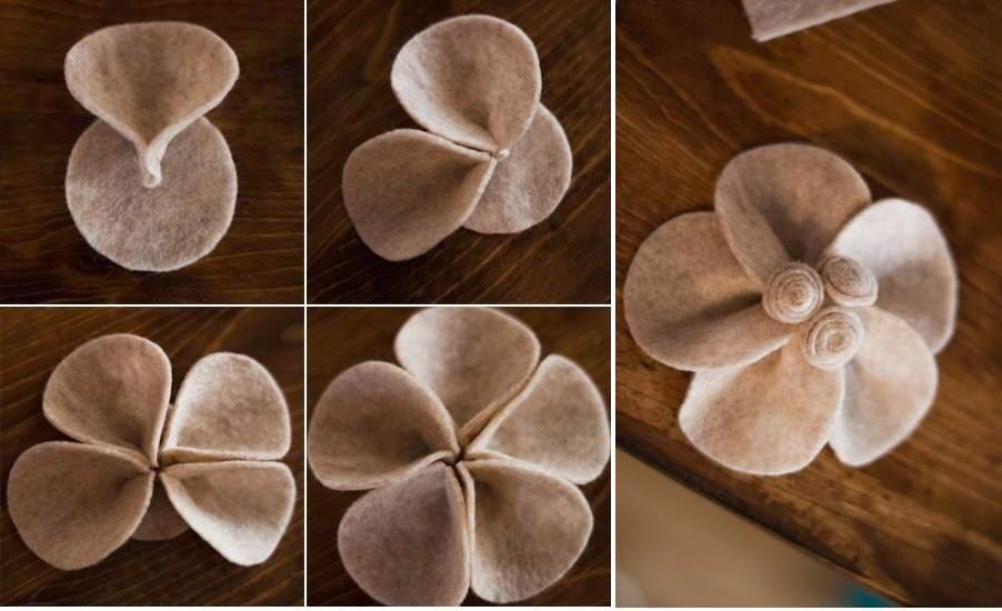 keçeden çiçek yapımı modelleri (16)
