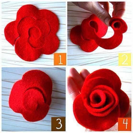 keçeden çiçek yapımı modelleri (18)