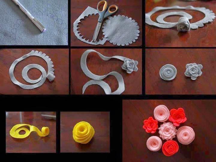 keçeden çiçek yapımı modelleri (19)