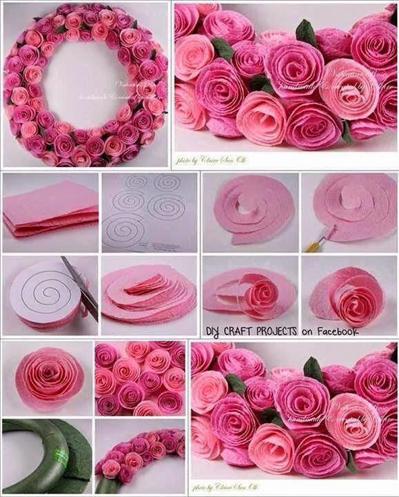 keçeden çiçek yapımı modelleri (20)
