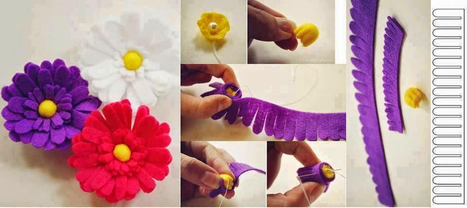 keçeden çiçek yapımı modelleri (21)