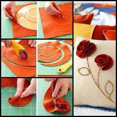 keçeden çiçek yapımı modelleri (22)