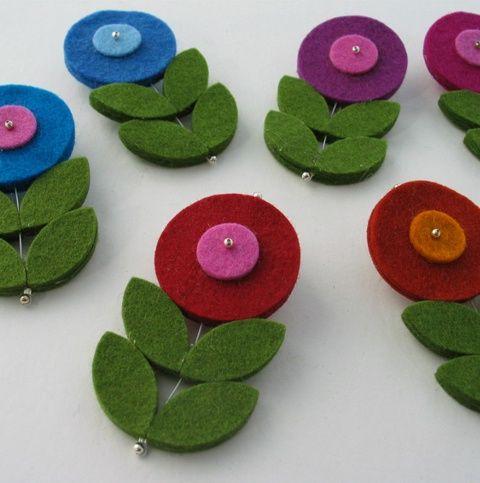 keçeden çiçek yapımı modelleri (28)