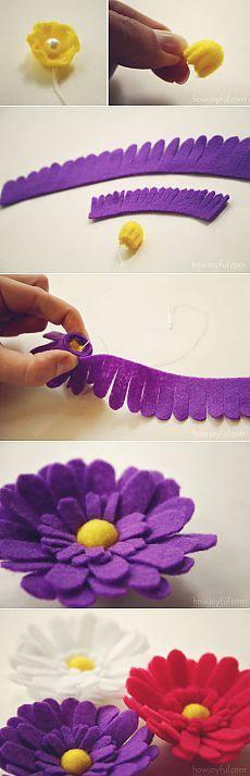 keçeden çiçek yapımı modelleri (3)