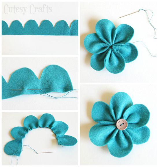 keçeden çiçek yapımı modelleri (6)