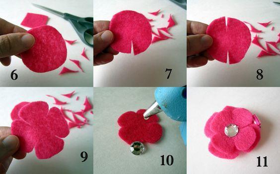keçeden çiçek yapımı modelleri (7)