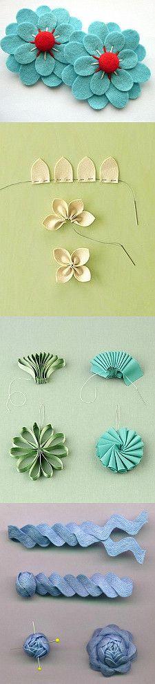 keçeden çiçek yapımı modelleri (9)